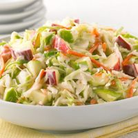 HONEY MUSTARD COLESLAW WITH APPLES