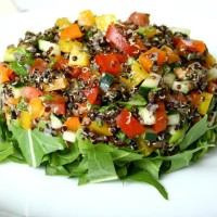 QUINOA SALAD WITH CUCUMBER AND ORANGE
